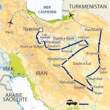carte expedition iran
