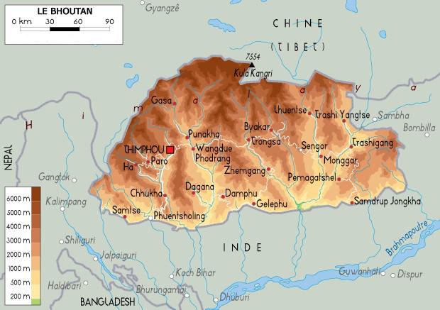 carte-bhoutan